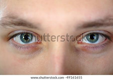 Human eyes, male sight - stock photo