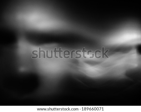 Human face in motion blur - stock photo