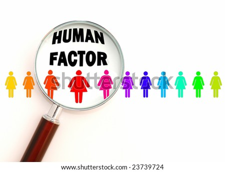 Human factor - color version - stock photo