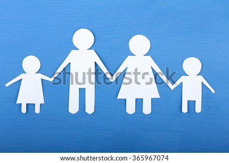 human figures cut out paper family lying stock photo edit now