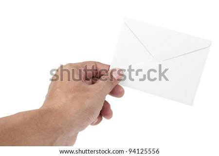 human hand and letter