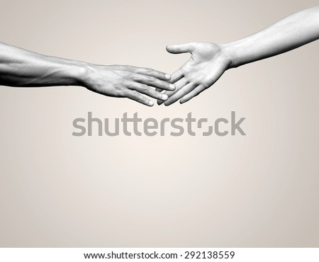 Human Hand, Assistance, Charity and Relief Work. - stock photo