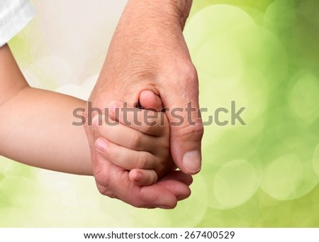 Human Hand, Assisted Living, Assistance. - stock photo