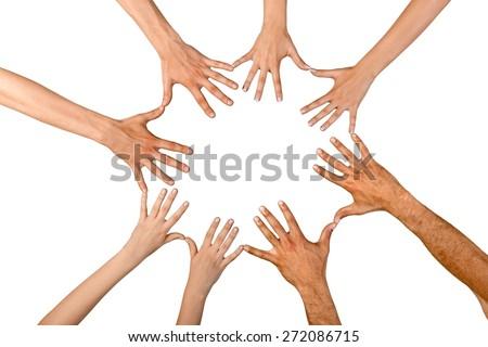 Human Hand, Child, Circle. - stock photo