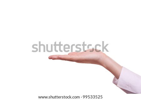 Human hand held up - stock photo