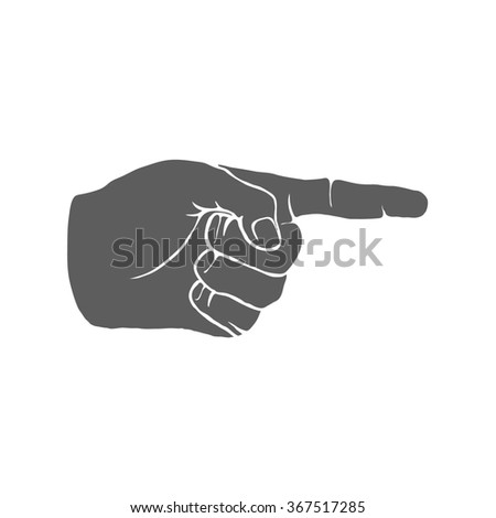 Human Hand Index Finger Hand Drawn illustration