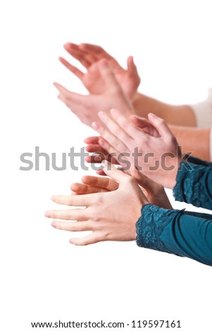 Human Hands Clapping - stock photo