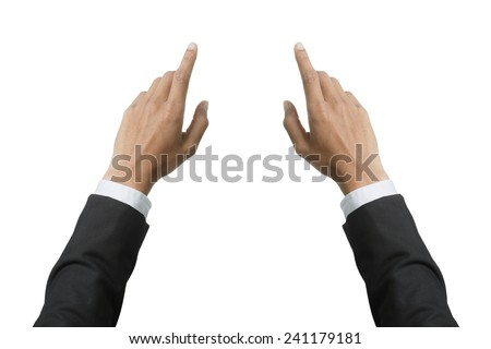 Human hands up - stock photo