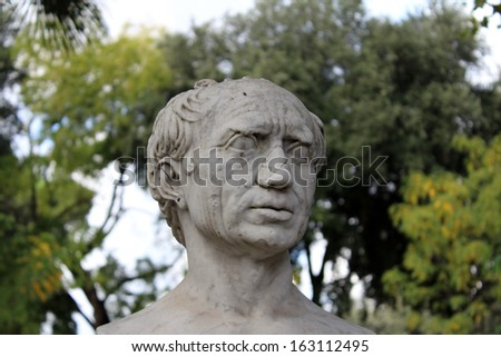 Human Head Marble Statue - stock photo