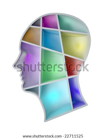 Human mind - stock photo
