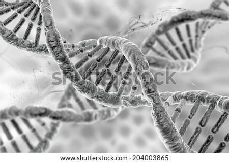 human molecule DNA - stock photo