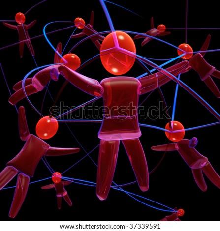 Human network - stock photo