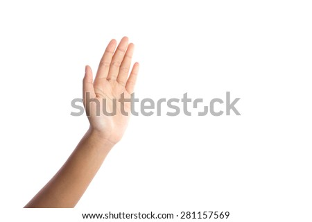human open hand - stock photo