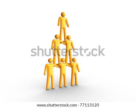 Human Pyramid - stock photo