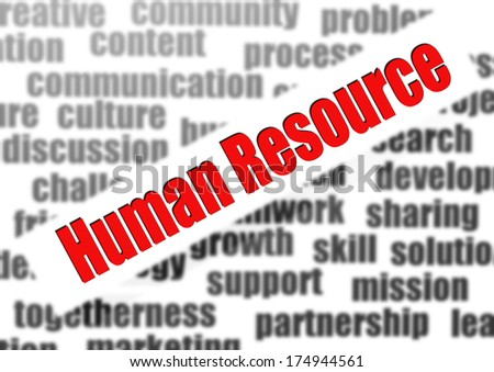 Human Resource - stock photo
