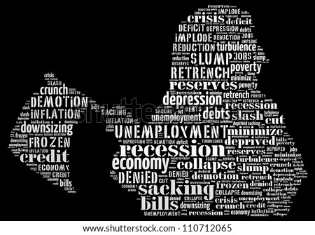 Human resource dilemma: text graphics - stock photo