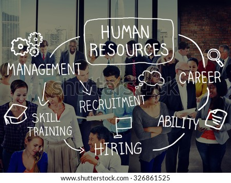 Human Resource Hiring Recruiter Select Career Concept - stock photo