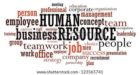 Human Resource info-text graphics arrangement concept on white background