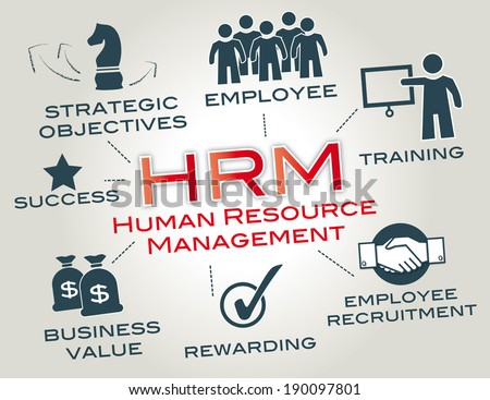 Human resource management is a function in organizations designed to maximize employee performance in service of their employer'?s strategic objectives. - stock photo