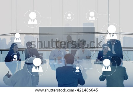 Human Resources Business Profession Graphic Concept - stock photo