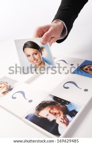 Human Resources concept. Portraits of a group of business people  - stock photo