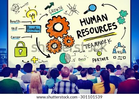 Human Resources Employment Job Recruitment Profession Concept - stock photo