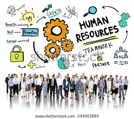 Human Resources Employment Job Teamwork Business Corporate Concept - stock photo