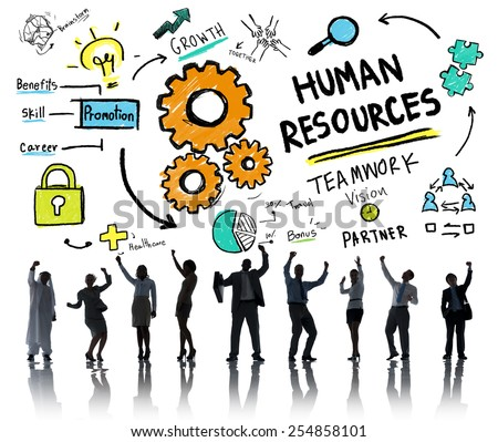 Human Resources Employment Teamwork Business People Success Concept - stock photo