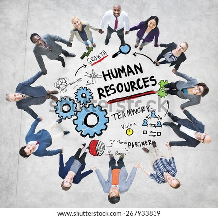 Human Resources Employment Teamwork Business People Support Concept - stock photo