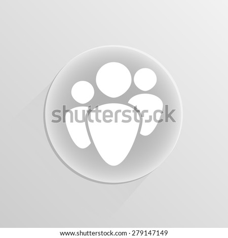 Human Resources Icons on a white button with shadow  - stock photo