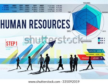 Human Resources Job Occupation Employment Concept - stock photo