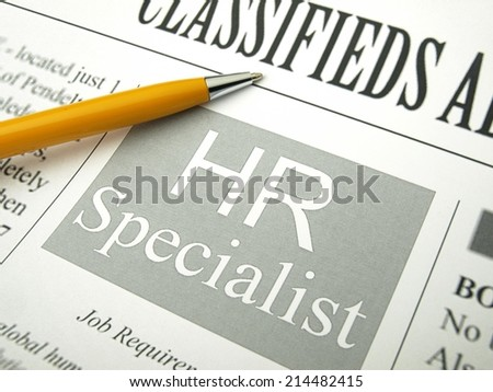 Human Resources Specialist (Job Ads)   - stock photo