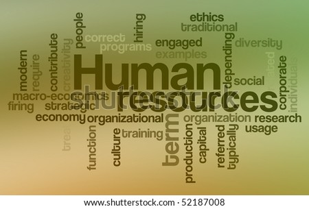 Human resources - Word Cloud - stock photo