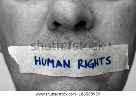Human rights - stock photo