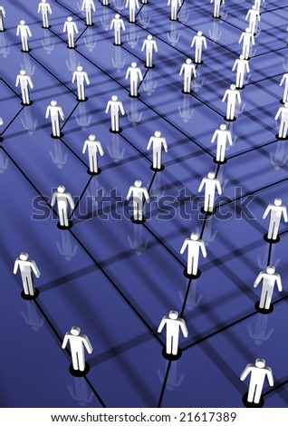 Human's hierarchy tree. 3d concept. Hi res rendering. - stock photo