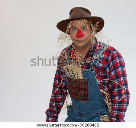 Human scarecrow - stock photo