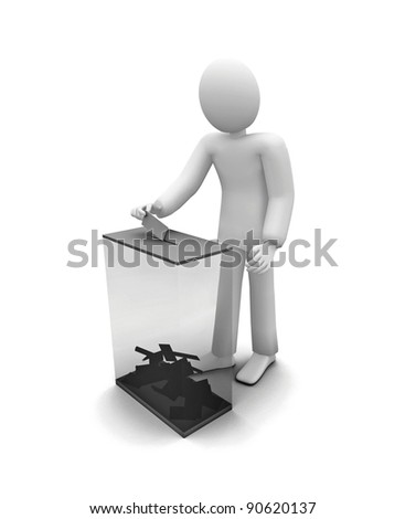 human voiting, elections - stock photo