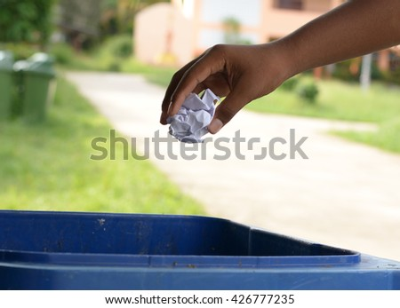 Human waste into the trash. - stock photo