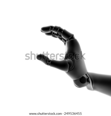Humanoid robot hand - stock photo