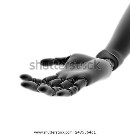 Humanoid robot hand - stock photo