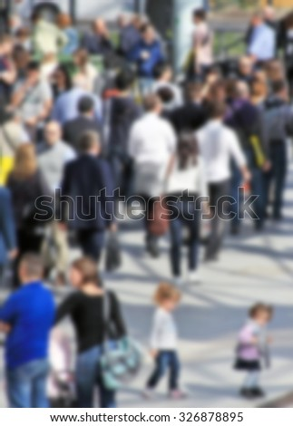 Humans, people background. Intentionally blurred post production.