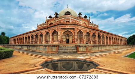 Humayun Great Mogul mausoleum, New Delhi, India - stock photo