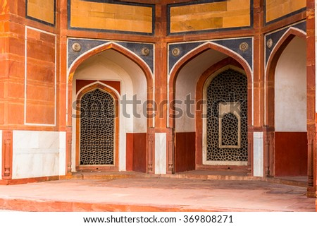 Humayun's Tomb complex,the tomb of the Mughal Emperor Humayun in Delhi, India. UNESCO World Heritage Site