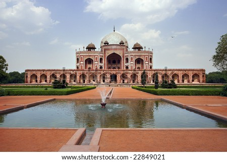 Humayun's Tomb in New Delhi, India. - stock photo