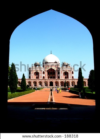 Humayun's  Tomb, New Delhi - stock photo