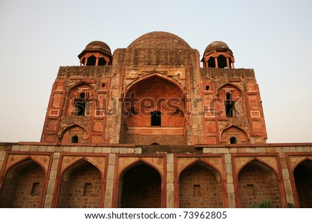 Humayun tomb in New Delhi - stock photo