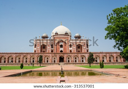 Humayun Tomb,New Delhi,INDIA - stock photo