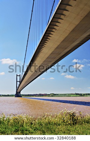 Humber Bridge, Hull, East Yorkshire, England. - stock photo