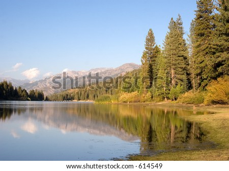 Hume Lake in King's Canyon National Park - stock photo