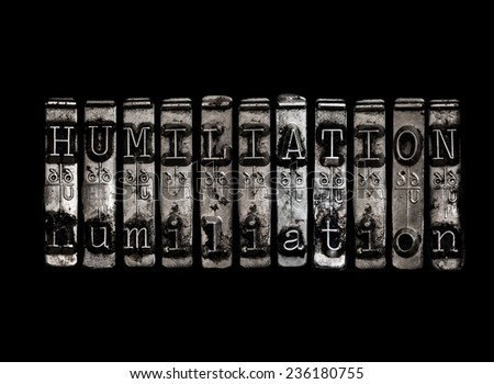 Humiliation concept - stock photo